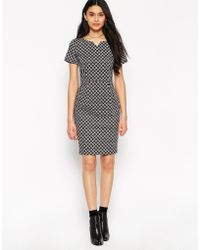 Sugarhill - Grace Shift Dress With Short Sleeves - Lyst