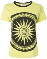 Fausto Puglisi Printed Crew Neck T-Shirt - Lyst