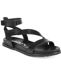 DKNY Sterling Footbed Sandals - Lyst