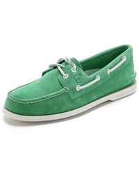 Sperry Top-sider A/O 2-Eye Suede Boat Shoes - Lyst