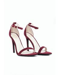 Missguided Clara Strappy Heeled Sandals Oxblood - Lyst