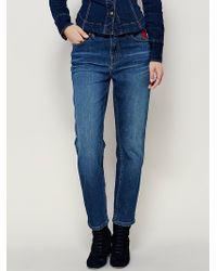Free People | Womens Four Seasons Embroidered Skinny | Lyst