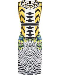 Clover Canyon Toucan Embellished Printed Neoprene Dress multicolor - Lyst