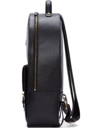 Thom Browne - Black Leather Buckle Backpack - Lyst