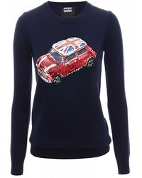 Markus Lupfer British Mini Car Sequin Emma Jumper - Lyst