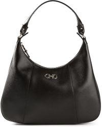 Ferragamo Small Hobo Shoulder Bag - Lyst