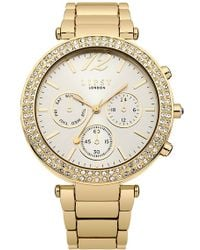 Lipsy - Ladies Gold Tone Bracelet Watch - Lyst