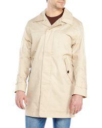 Timberland Khaki Coat - Lyst