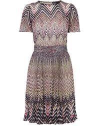 Karen Millen Zig Zag Print Dress purple - Lyst