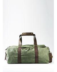 Mango - Canvas Weekend Bag - Lyst