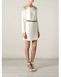Versace Military Galon Dress - Lyst