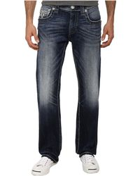 Rock Revival Tate J400 Brand Back Pocket Straight Jean - Lyst