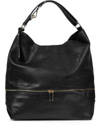 Topshop Zip-Detail Faux-Leather Hobo - Lyst