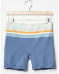 Gap Knit Stripe-Waist Shorts blue - Lyst
