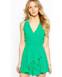 Wal-G - Halter Romper With Drape Front - Lyst