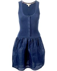 Burberry Brit Buttoned Cami Dress - Lyst