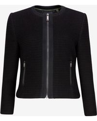 Ted Baker Textured Cropped Jacket - Lyst