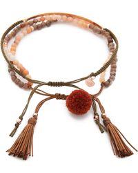 Tai - Beaded Bar Bracelet Set - Rose/rose Gold - Lyst