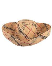 Onigo - Plaid Wide Brim Hat - Lyst