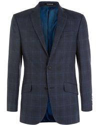 Richard James Hyde Linen-Wool Prince Of Wales Check Jacket - Lyst