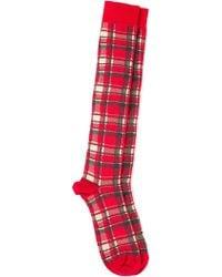 Fefe - Tartan Socks - Lyst