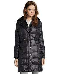 DKNY Black Kate 34 Length Down Fill Quilted Jacket - Lyst