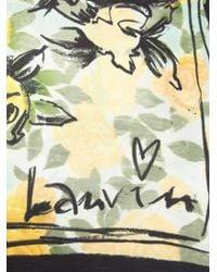 Lanvin Floral Print Scarf - Lyst