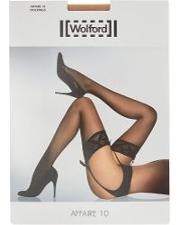 Wolford Affaire 10 Stockings - Lyst