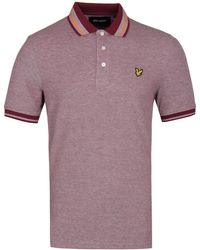 Lyle & Scott - Oxford Tipped Claret Polo Shirt - Lyst
