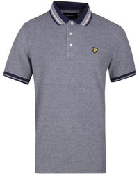 Lyle & Scott - Oxford Tipped Navy Polo Shirt - Lyst