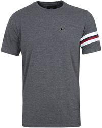Cruyff Clothing - Charcoal Grey Short Sleeve Armband Tee - Lyst