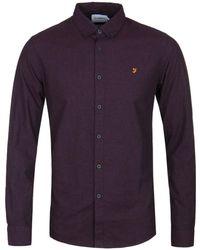 Farah - Damson Purple Steen Long Sleeve Shirt - Lyst