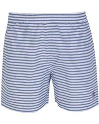 Henri Lloyd - Abridge Striped Grey & White Swim Short - Lyst
