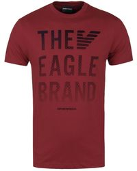 Emporio Armani - Red The Eagle Brand Tee - Lyst