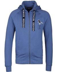 Christopher Raeburn - Blue Organic Cotton Zip Through Hooded Sweatshirt - Lyst