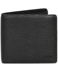 BOSS - Leather Black Timeless Billfold Wallet Wallet - Lyst