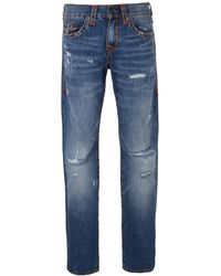 True Religion - Blue Ejdm Worn Ever Fade Ricky Flap Super T Jeans - Lyst