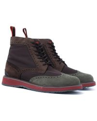 Swims - Barry Khaki & Brown High Top Brogue - Lyst