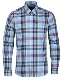 Barbour - Light Blue Tailor Fit Long Sleeve Jeff Shirt - Lyst