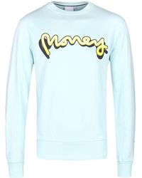 Money - Signature Ape Shadow Mint Blue Glow Crew Neck Jumper - Lyst