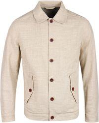 Gant Rugger - Linen Dry Sand Coach Jacket - Lyst