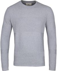 Folk - Grey Fragment Crew Knitted Sweater - Lyst