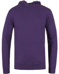 Edwin - Purple Garment Washed Overhead Hoodie - Lyst