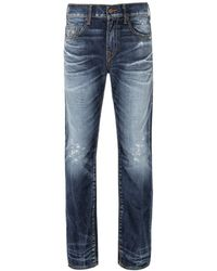 True Religion - Ricky No Flap Cable Midnight Jeans - Lyst