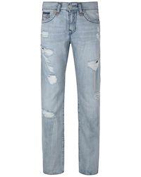 True Religion   Geno Worn Tropics Distressed Jeans   Lyst