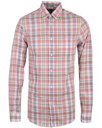 Gant Rugger - Madras Veggie Orange Check Long Sleeve Shirt - Lyst
