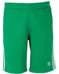 adidas Originals - Green 3-stripes Short - Lyst