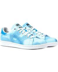 adidas Originals - Pharrell X Adidas Blue Hu Holi Stan Smith Trainers - Lyst 24eb59c8c