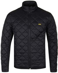 Barbour - Gear Black Quilted Jacket - Lyst