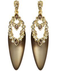 Alexis Bittar Crystal Lace  Lucite Dangling Post Earrings - Lyst